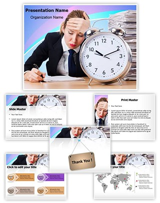Career Deadline Employee Editable PowerPoint Template