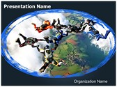 Skydivers Editable PowerPoint Template