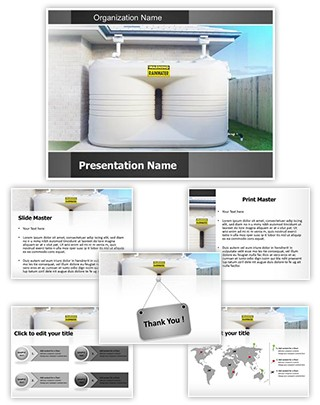 Water Tanks Editable PowerPoint Template