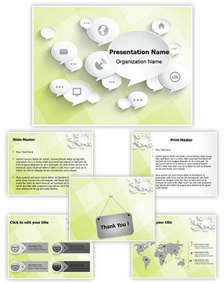 Digital Media Editable PowerPoint Template