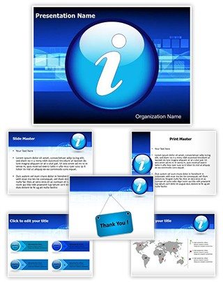 Information And Assistance Editable PowerPoint Template