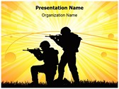 Military Soldiers War Editable PowerPoint Template