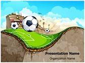 Sports Soccer Field Editable PowerPoint Template