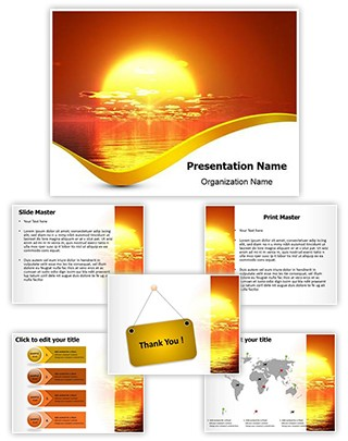 Sunrise River Editable PowerPoint Template