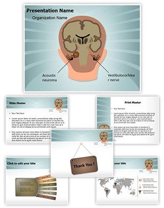Acoustic Neuroma Vestibulocochlear Nerve Editable PowerPoint Template