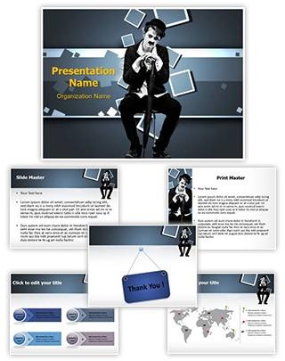 Charlie Chaplin Editable PowerPoint Template
