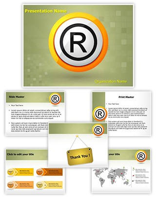 Copyright Registered Trademark Editable PowerPoint Template