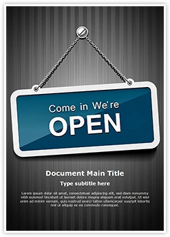 We Are Open Editable Word Template