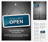 We Are Open Template