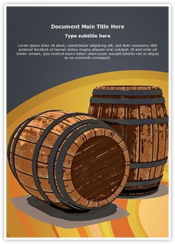Winery Wine Barrel Editable Word Template