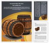 Winery Wine Barrel Editable Word Template