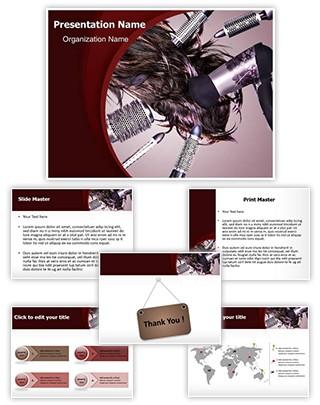 Hair Style Editable PowerPoint Template