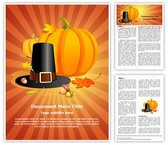 Autumn Thanksgiving Pilgrim Editable Word Template