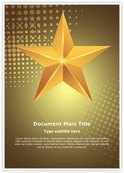 Celebration Gold Star Editable Word Template