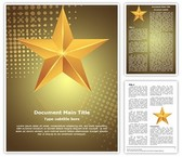 Celebration Gold Star Template
