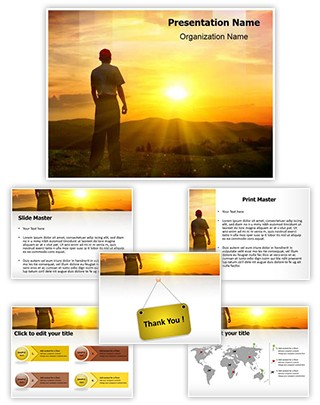Watching Sunset Editable PowerPoint Template
