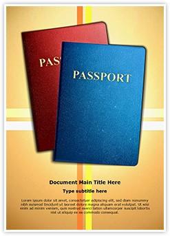 Citizenship Passports Editable Word Template