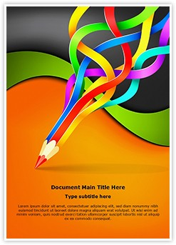 Colorful Pencil Art Editable Word Template