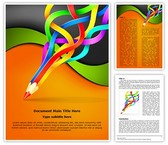 Colorful Pencil Art Template