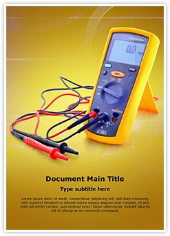 Electrical Testing Tool Editable Word Template