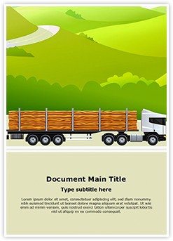 Commercial Logging Truck Editable Word Template