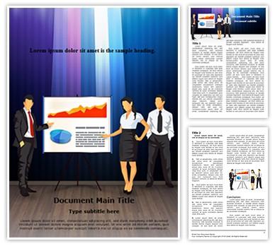 Corporate Presentation Teamwork Editable Word Document Template