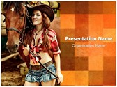Cowgirl PowerPoint Templates