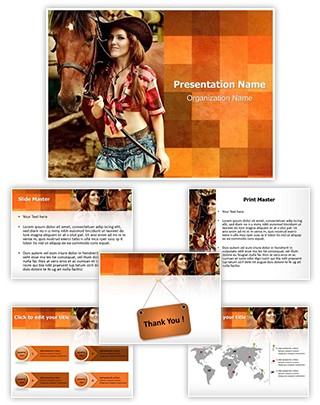 Cowgirl Editable PowerPoint Template