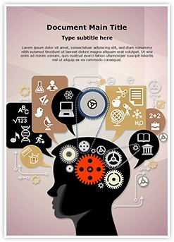 Education Cognitive Mental Processes Editable Word Template