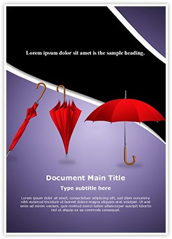 Fashion Umbrellas Editable Word Template