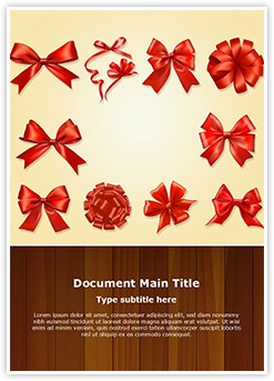 Gift Bows And Ribbons Editable Word Template