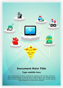 Healthcare Medicine Cloud Computing Editable Word Template