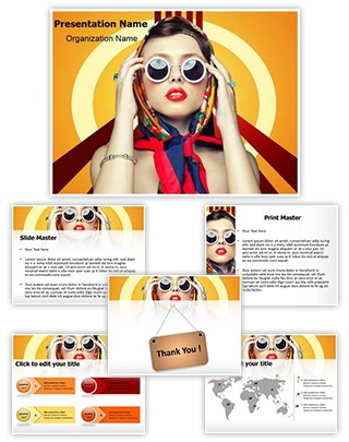 Retro Fashion Editable PowerPoint Template