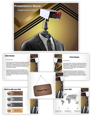 Robotic Security Editable PowerPoint Template