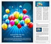 Holiday Celebration Editable Word Template