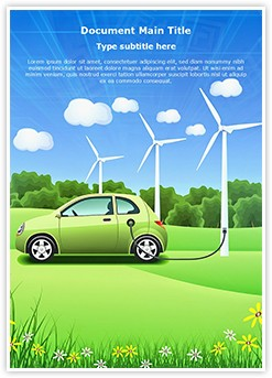Hybrid Car Editable Word Template