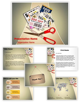 Savings Grocery Coupons Editable PowerPoint Template