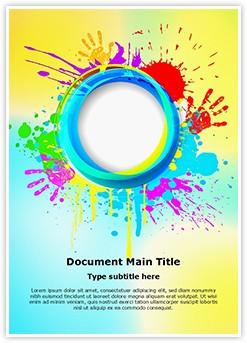 India Holi Festival Editable Word Template