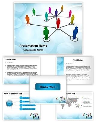 People Network Editable PowerPoint Template