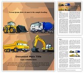 Industrial Construction Machine Editable Word Template