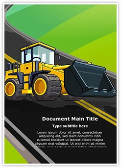 JCB Truck Editable Word Template