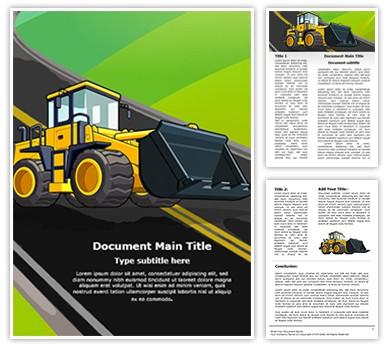 JCB Truck Editable Word Document Template