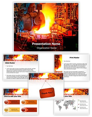 Blast Furnace Editable PowerPoint Template