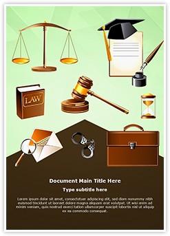 Legislative System and Law Editable Word Template