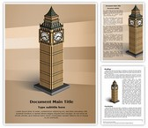 London Big Ben Tower Template