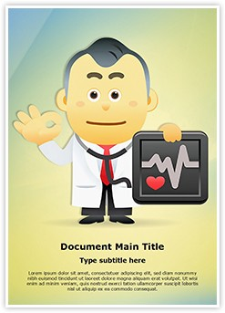 Medical Doctor Presenting Editable Word Template