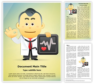 Medical Doctor Presenting Editable Word Document Template