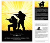 Military Soldiers War Editable Word Template