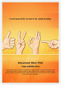 Multitouch Gestures Editable Word Template