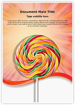 Spiral Lollipop Editable Word Template